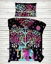 Baumwolle Bettdecke Bettbezug Indische Elefant Baum des Lebens Decke Bettdecke