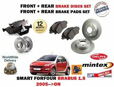 FOR SMART FORFOUR BRABUS 1.5 TURBO 2005-  FRONT & REAR BRAKE DISC SET + PADS KIT