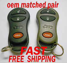 OEM MATCHED PAIR JEEP KEYLESS REMOTE ENTRY FOBS REMOTES TRANSMITTER  GQ43VT9T