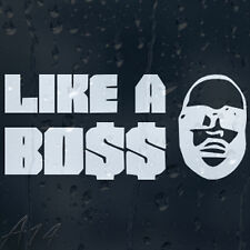 Like A Boss Car Or Laptop Decal Vinyl Sticker For Window Body Panel Bumper