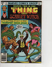 Marvel Two-in-One #66 (8/80) VG/F (5.0) Thing! Scarlet Witch! Great Bronze Age!