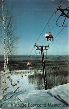 VIRGINIA MN 1960 Chair Lift with Skiers @ Long Gone Lookout Mountain Ski Resort