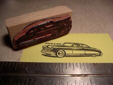 1949 Hudson Car Rubber Stamp!   2 door coupe side view w script 1950 1951