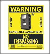 Jenlis Hard Nosed No Trespassing Sign 10 pack