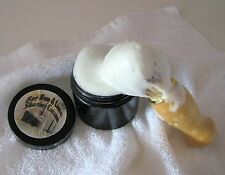 Bay Rum & Lime, Handmade SHAVING CREAM, Thick Lather, 8 oz. Black & Amber Tub