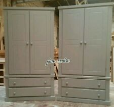 HANDMADE (GREY) AYKESBURY X2 2 DRAWER DOUBLE WARDROBE NOT FLAT-PACK!!!
