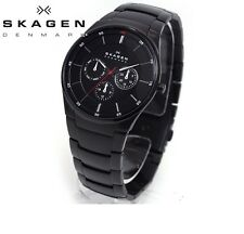 SKAGEN MEN'S ULTRA SLIM DENMARK BLACK LUXURY WATCH SKW6055