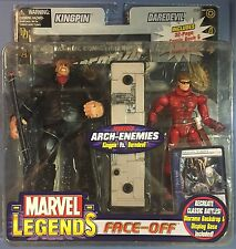 Marvel Legends Face Off Black Suit Kingpin Vs Unmasked Daredevil MOC Netflix