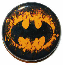 "1"" (25mm) BATMAN LOGO Button Badge Pin - High Quality Custom Badge"