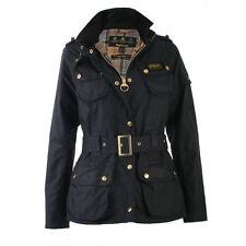 Women's Black/Navy WAX BARBOUR INTERNATIONAL OUTDOOR Jacket UK 12