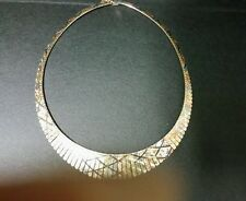 14k tricolor  gold  cleopatra necklace