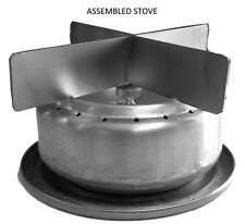 Large Ultralight Backpacking Alcohol Stove W/ TITANIUM Stand, Ecco Stoves, TB-02