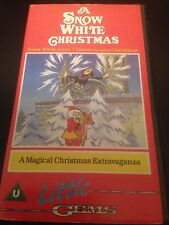 A SNOW WHITE CHRISTMAS VIDEO VHS RARE ANIMATED CARTOON LITTLE GEMS