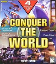 Conquer the World PC CD 4 games Sid Meiers Colonization Railroad Tycoon Pirates!