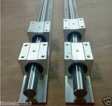 linear slide guide shaft 20mm SBR20-1400mm 2 rail+4sbr20uu bearing block CNC set