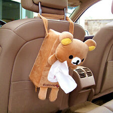 Car Paper Box Brown Rilakkuma Organiser Rectangle Tissue Box Cute Adorable Decor