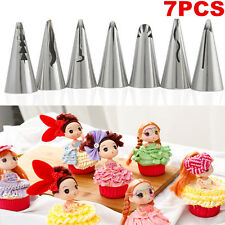 7pc Flower Stainless Steel Icing Piping Nozzles Tips Cake Decorating Pastry Tool