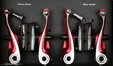 TRP CX8.4 Mini-V Linear Pull Cyclocross Bicycle Brake Set (Front & Rear) CX  RED