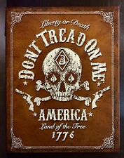 Liberty Or Death 1776 Don't Tread On Me TIN SIGN vtg Metal Wall Decor