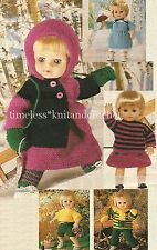 VINTAGE KNITTING PATTERN FOR VERY EASY-TO-KNIT DOLL CLOTHES - BEGINNER KNIT
