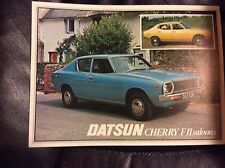 1978 Datsun FII Saloons Specifications Sheet
