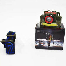 Rechargeable Headlamp headlight camera shap for Camping Hiking Fishing Walking