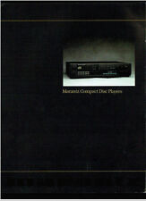 Super Rare Vintage Marantz CD 74/150 Compact Disc CD Players Dealer Brochure
