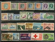 RHODESIA + NYASALAND QE2 1954-63 FINE USED 26 stamps cv £59