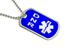 DNR Do Not Resuscitate - Military Dog Tag Keychain