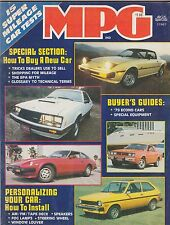 1978 MPG vintage car magazine BUYERS GUIDE - BUYING NEW CARS