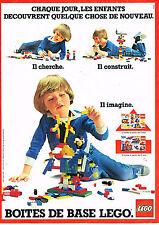 PUBLICITE  1982   LEGO  jeux jouets