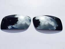 NEW POLARIZED CHROME SILVER CUSTOM MIRRORED REPLACEMENT OAKLEY GASCAN LENSES