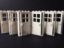 Lego Doors White New Set Of 6 1x4x6 White Door White Frames House Buildings