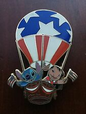 Disney Auctions Lilo and Stitch Hot Air Balloon 4th of July USA LE 100 Pin VHTF