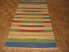 4 X 6 Dhurry Kilim Flat Weave Hand Woven Reversible Rug G3460