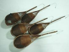 Bamboo Basket Hangers Suitable for Orchids & Small Plants/Flowers    5 PIECES.