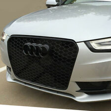 PT Audi A5 S5 TO RS5 Gloss Black Frame Rings Honeycomb Mesh 2012 - 14 UK SELLER