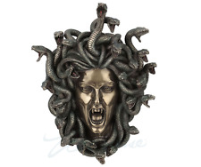 "14.5"" Head of Medusa Wall Plaque Statue Collectible Gothic Myth Legend Snakes"