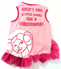 Star Wars Dog Dress Small Princess Leia Pink Stormtroopers Pet New