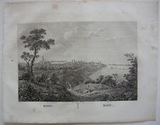 Bonn Gesamtansicht Orig Kupferstich J. Roux 1822 Nordrhein Westfalen