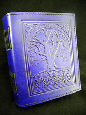 Wicca TREE of LIFE Handmade PURPLE Leather Journal - Book of Shadows - Grimoire
