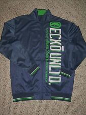 Marc ECKO Blue Green White BIG BLOCK Men's Track Jacket XL New!