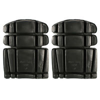 Work Wear Knee Pads for Trousers Pants Bib + Brace  Overalls Boiler Suits Black