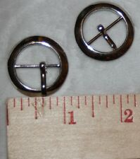 "2 round Silver metal Prong Slide BELT Buckle Buckles sewing crafts 1"" 3/4""  Q9"