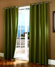 2 GROMMET PANEL TEXTURE WINDOW CURTAINS  FOAM LINED 99% BLACKOUT THERMAL K34 84""