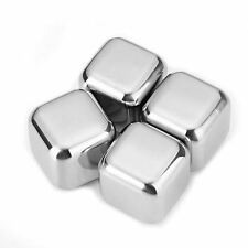 Stainless Steel Whiskey Stones Soapstone Ice Cubes Drink Chillers - 4 Pack