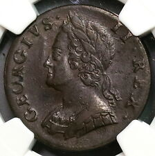 1747 NGC XF 45 George II 1/2 Penny GREAT BRITAIN Coin (16112405C)