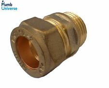 "15mm x 1/2"" Brass Iron male Adaptor Compression to BSP"