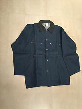 BARN JACKET,DENIM DARK RIGID,cord collar, nos,us made,100%cotton,L