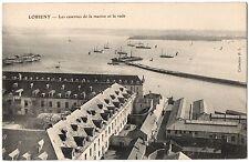 CPA 56 - LORIENT (Morbihan) - Les Casernes de la marine et la rade - Coll. H. L.